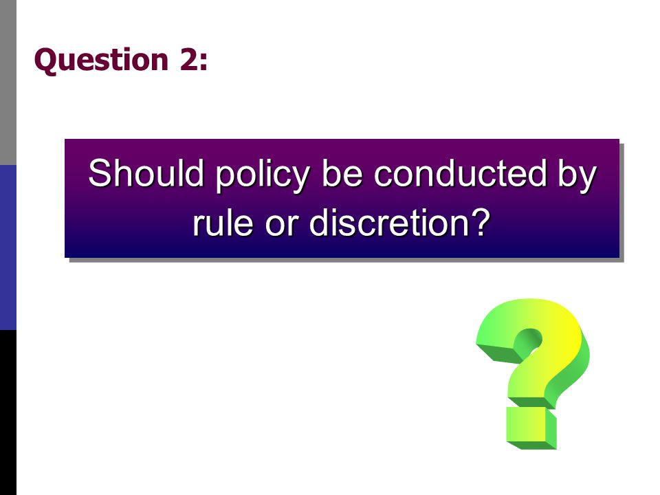 Rules and discretion: Basic concepts