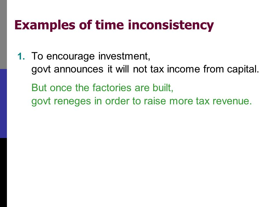 Examples of time inconsistency
