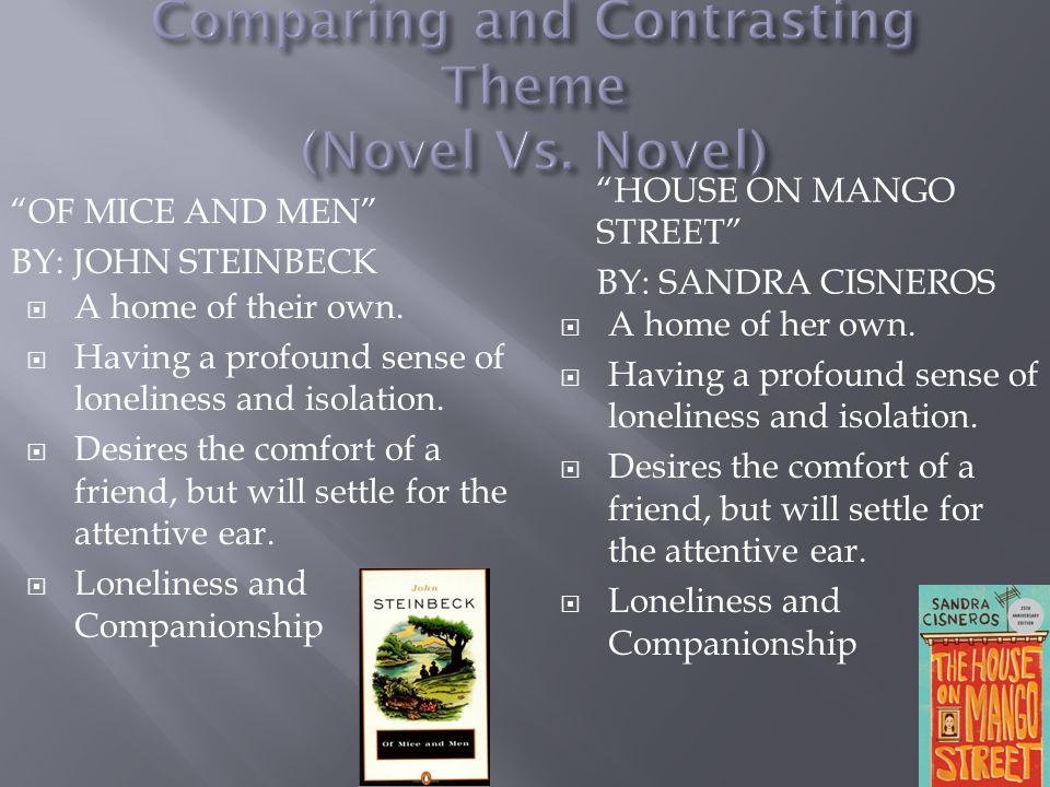 Comparing and Contrasting Theme (Novel Vs. Novel)