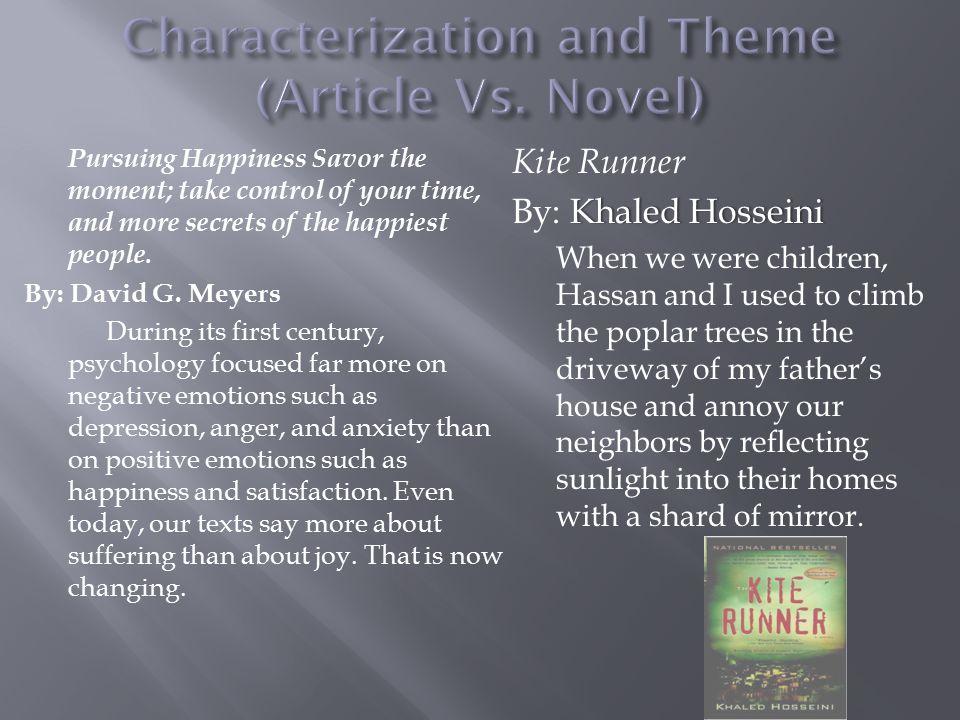 Characterization and Theme (Article Vs. Novel)