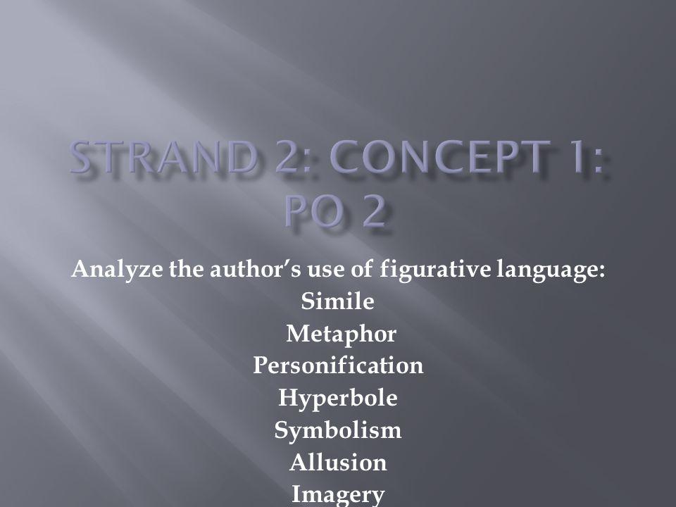 Analyze the author's use of figurative language: