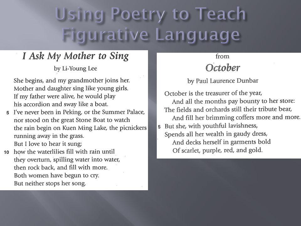 Using Poetry to Teach Figurative Language
