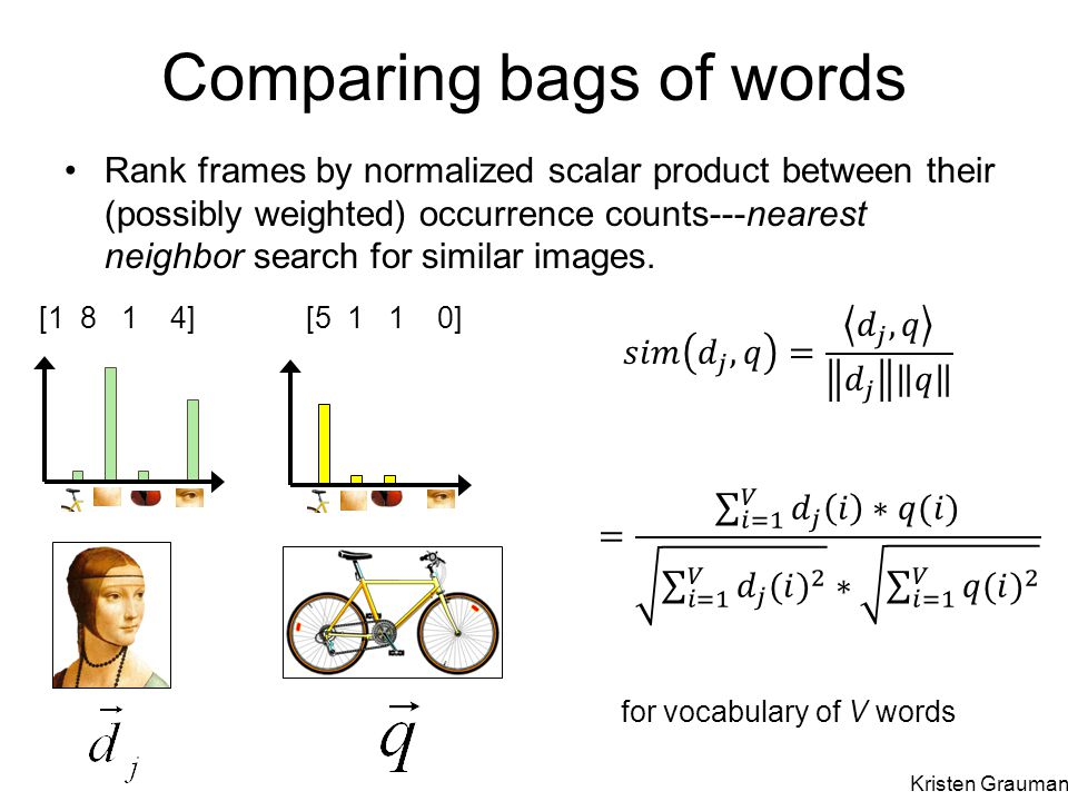 Comparing bags of words