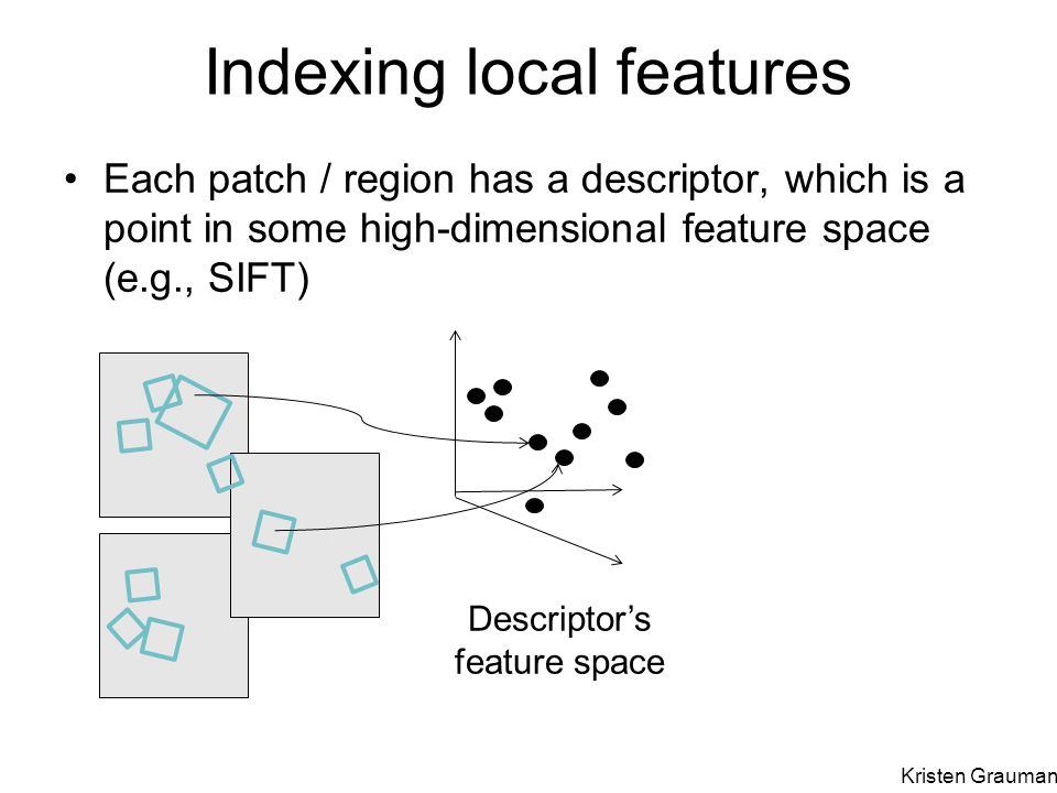 Indexing local features
