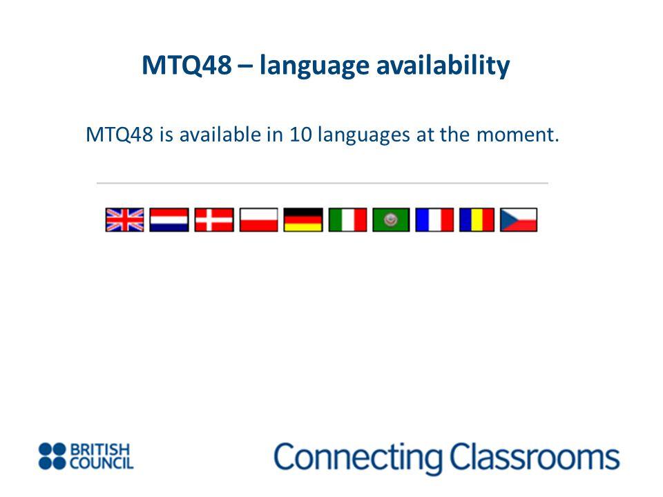 MTQ48 – language availability