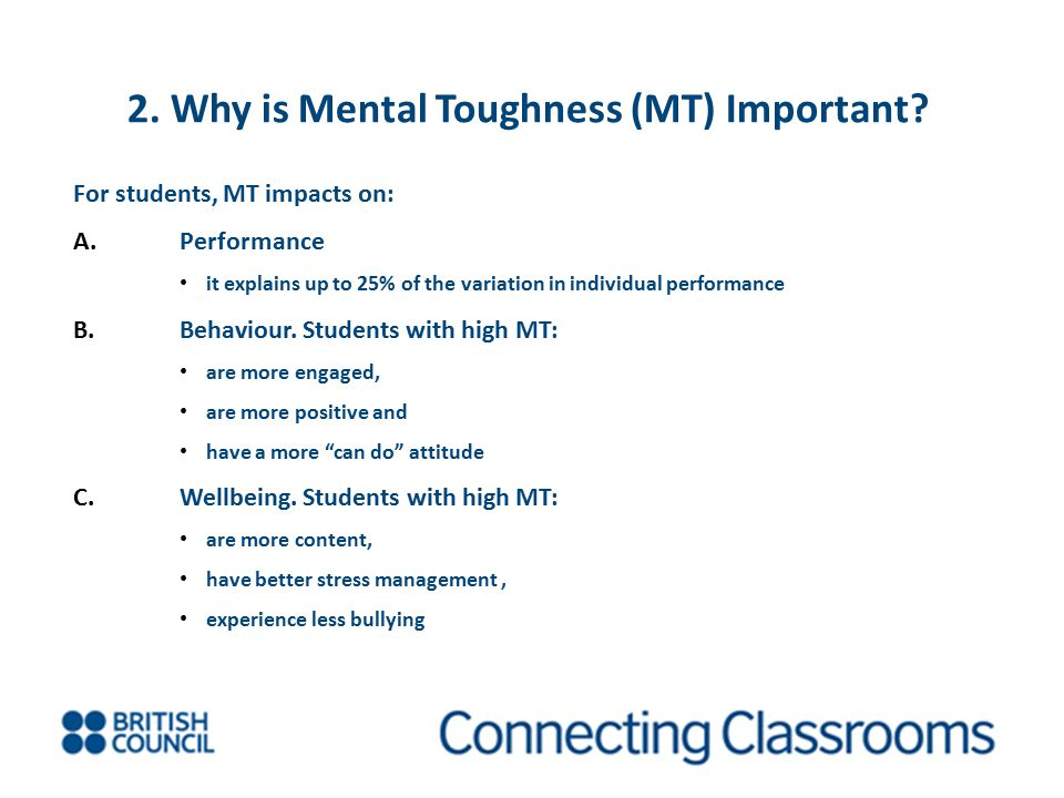 2. Why is Mental Toughness (MT) Important
