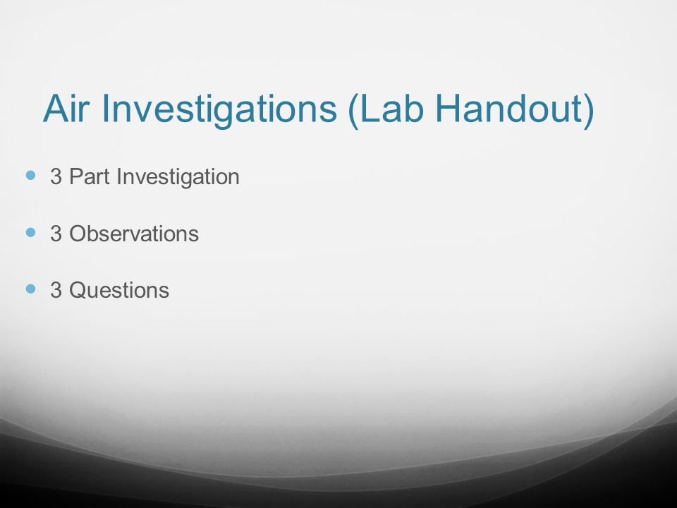 Air Investigations (Lab Handout)