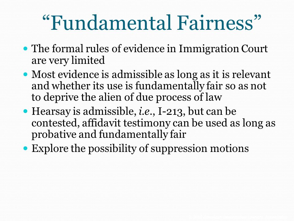 Fundamental Fairness