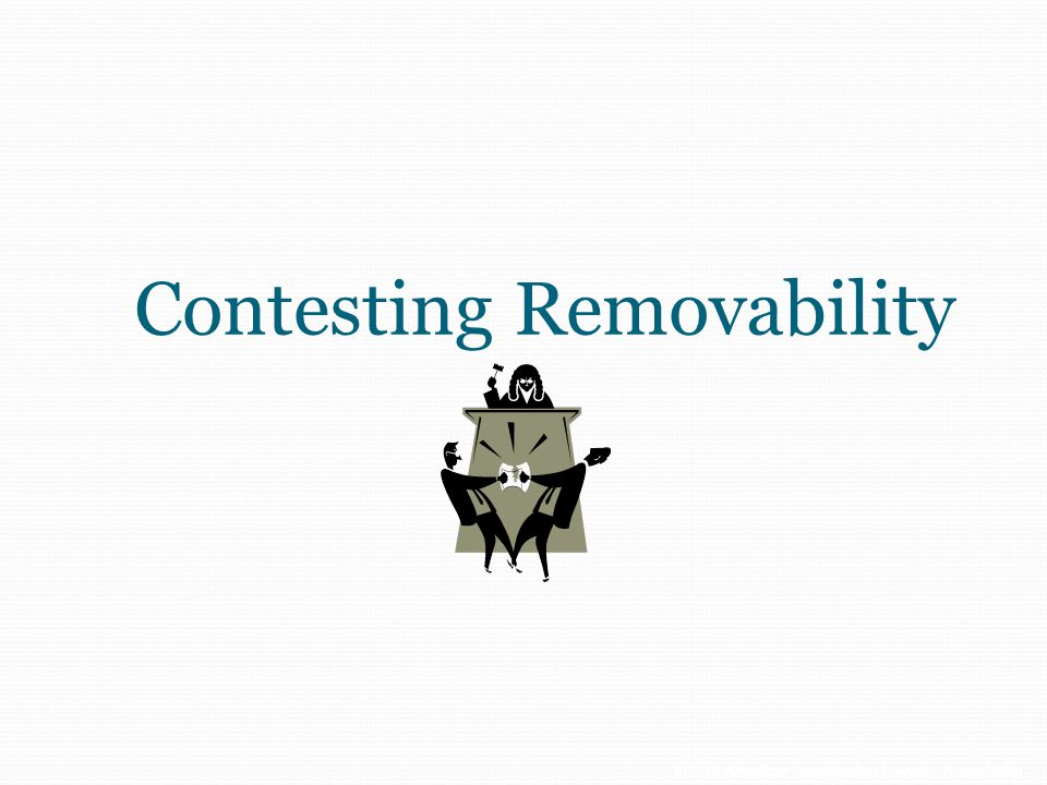Contesting Removability