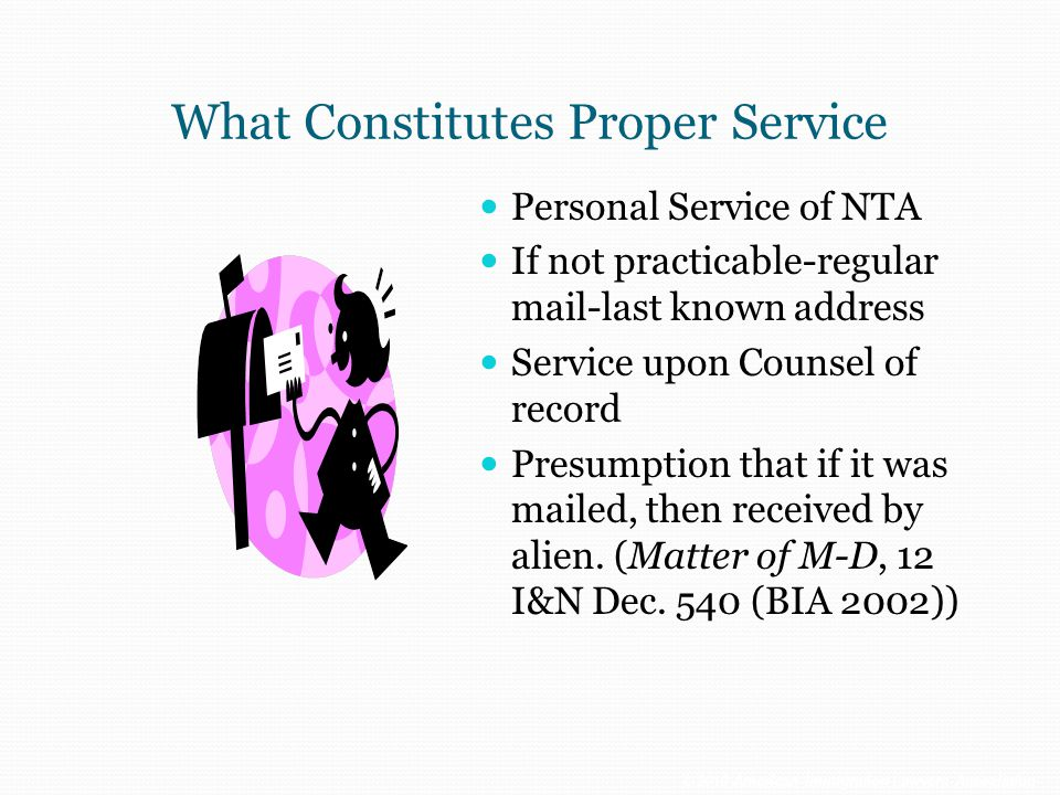 What Constitutes Proper Service