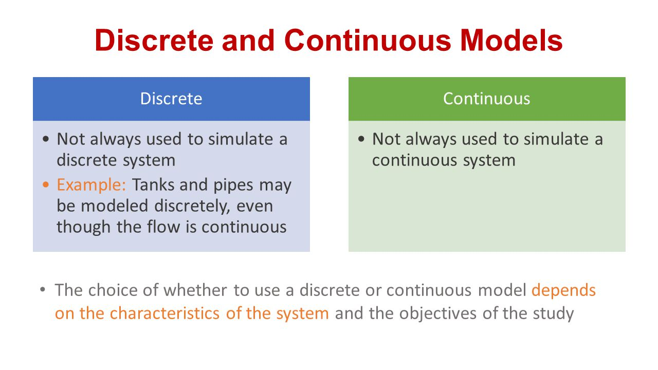 Discrete and Continuous Models