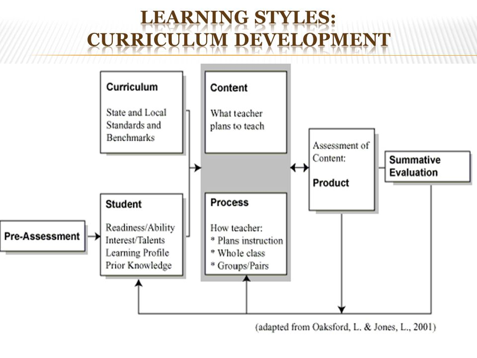 Learning Styles: Curriculum Development