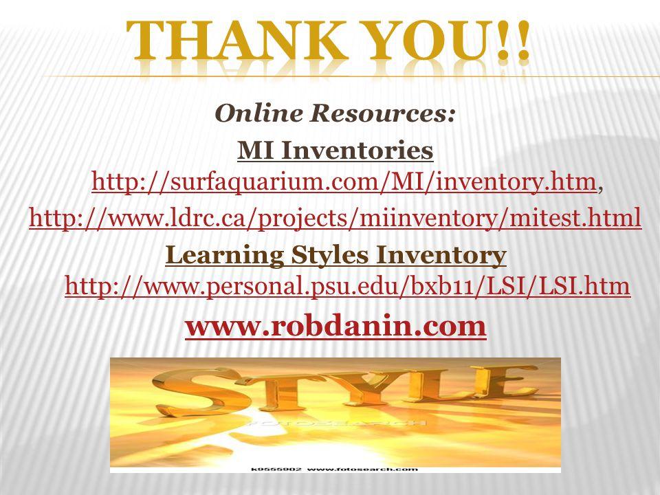 MI Inventories http://surfaquarium.com/MI/inventory.htm,
