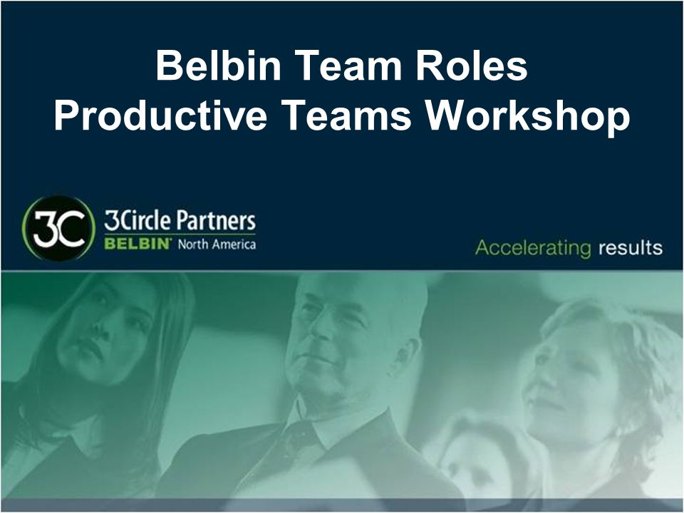 Belbin Team Roles Productive Teams Workshop