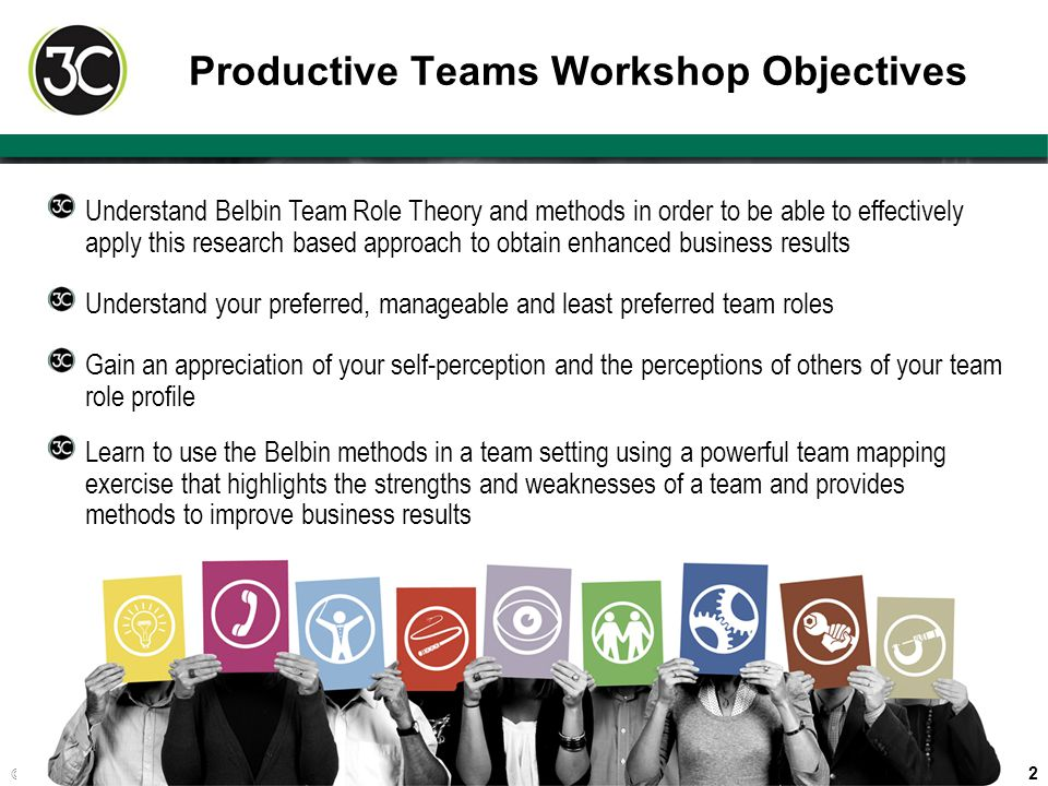 Productive Teams Workshop Objectives