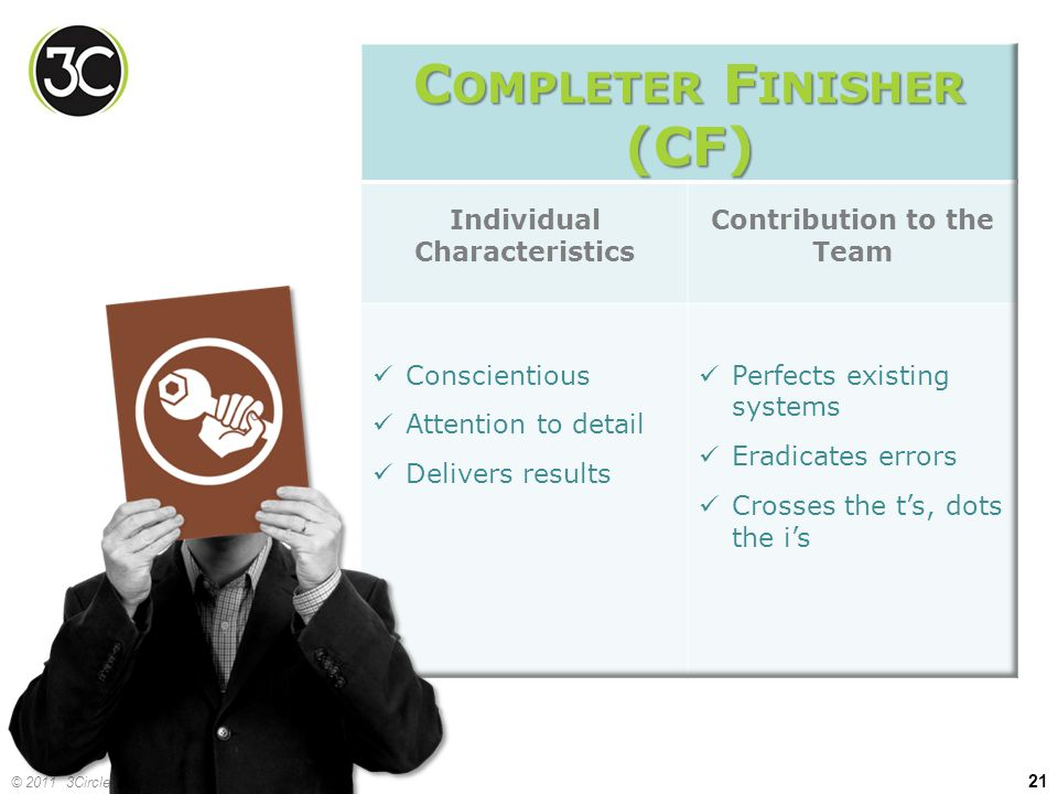 Completer Finisher (CF)