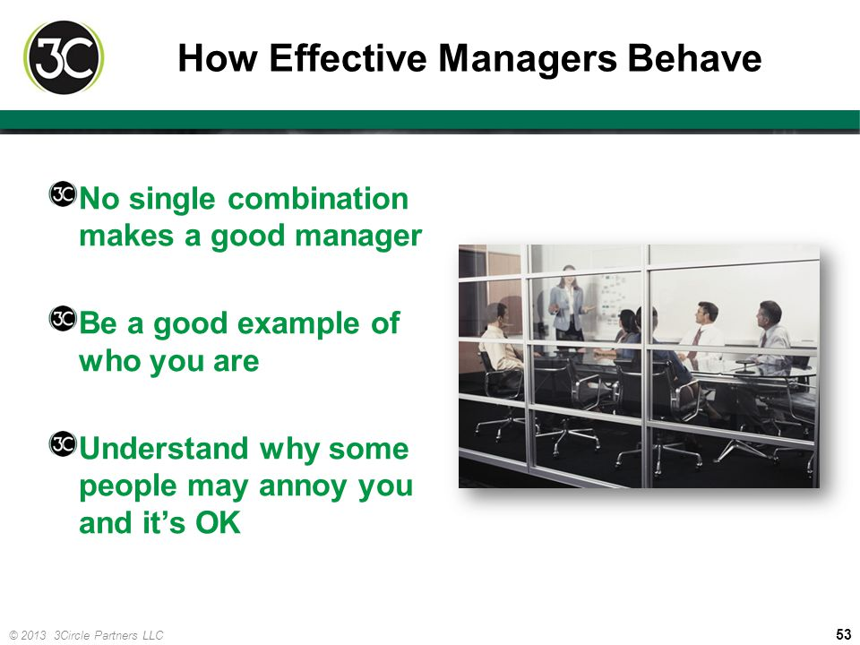 How Effective Managers Behave