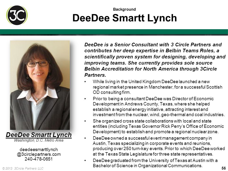 Background DeeDee Smartt Lynch