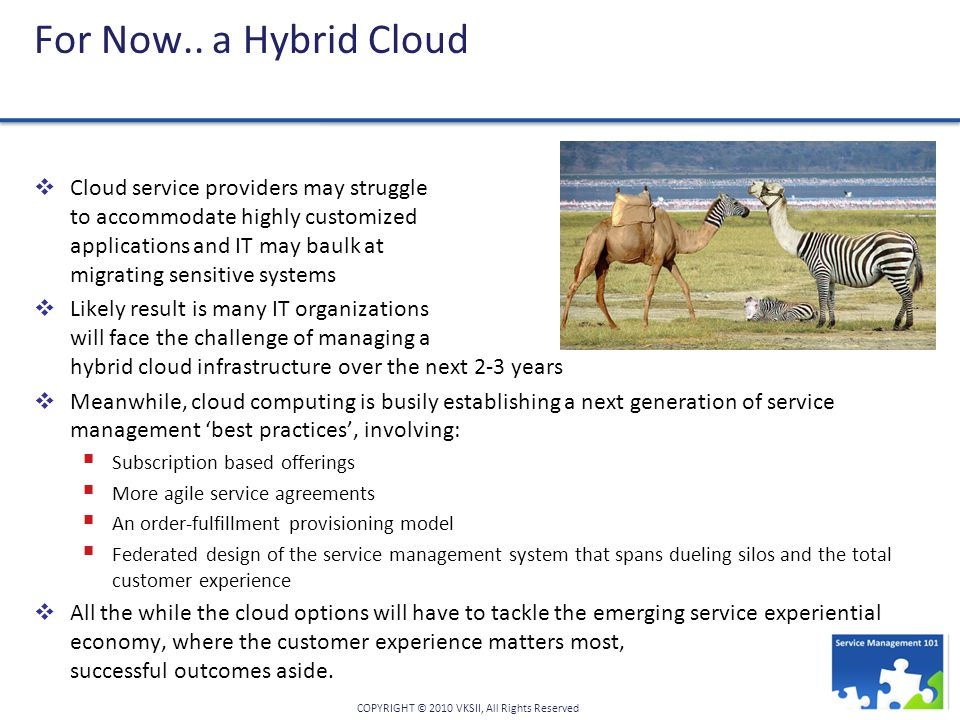 For Now.. a Hybrid Cloud
