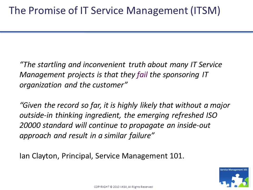 The Promise of IT Service Management (ITSM)