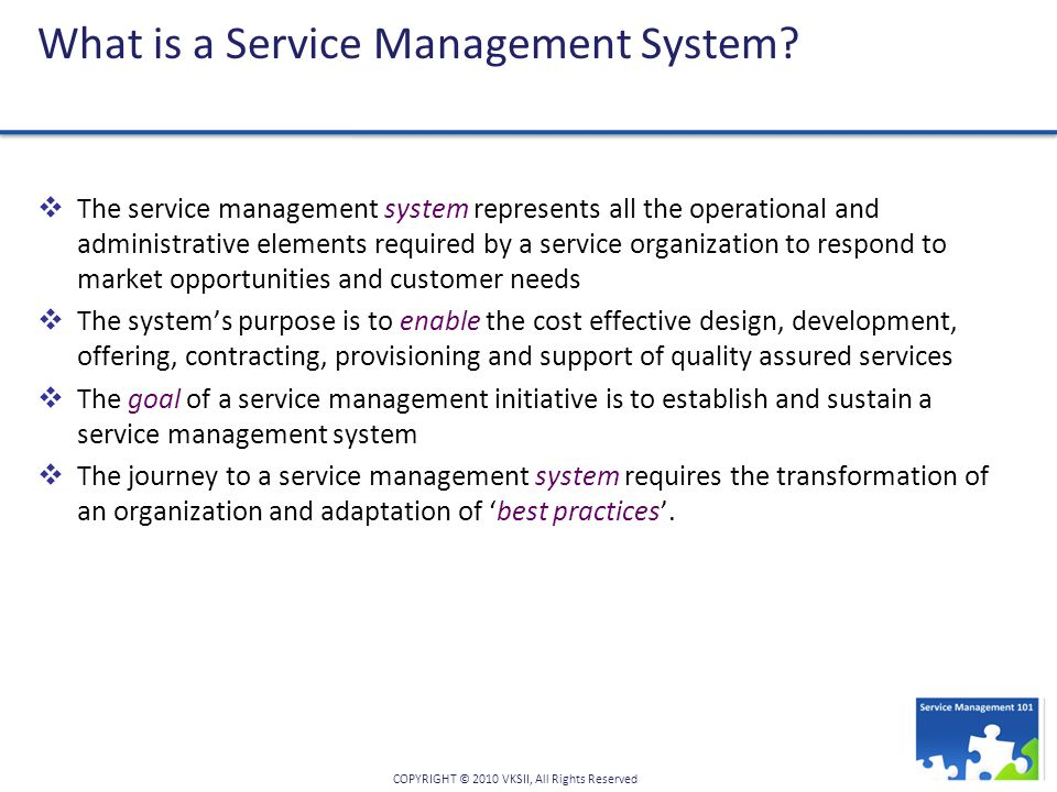 What is a Service Management System