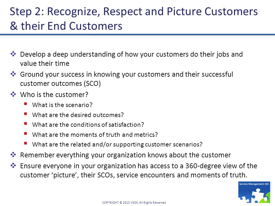 Step 2: Recognize, Respect and Picture Customers & their End Customers