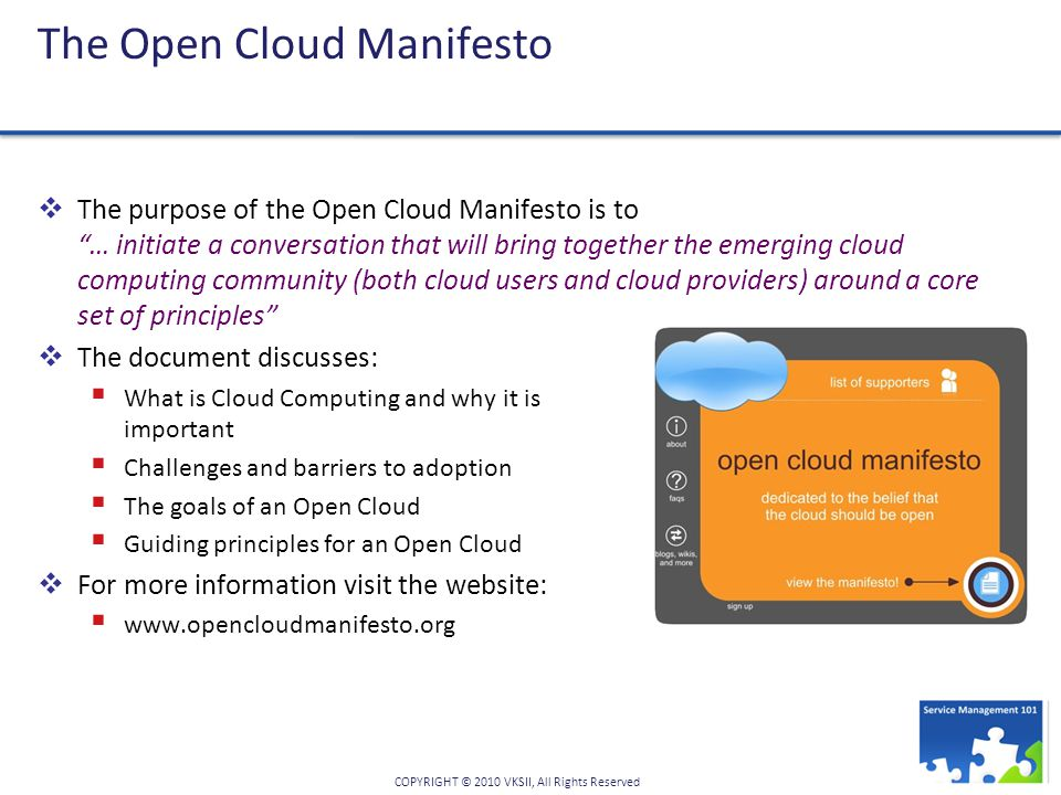 The Open Cloud Manifesto