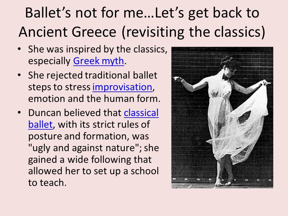 Ballet's not for me…Let's get back to Ancient Greece (revisiting the classics)