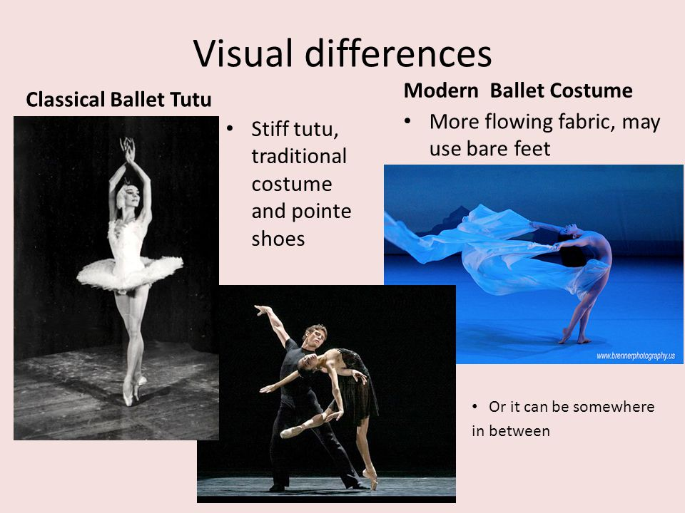 Visual differences Modern Ballet Costume Classical Ballet Tutu