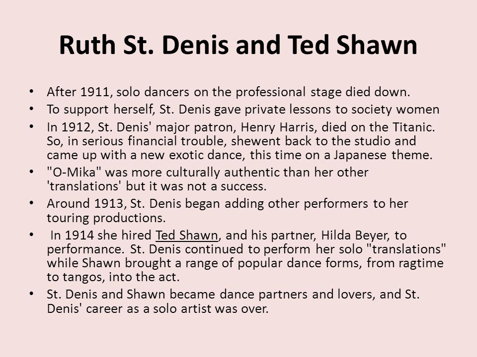 Ruth St. Denis and Ted Shawn