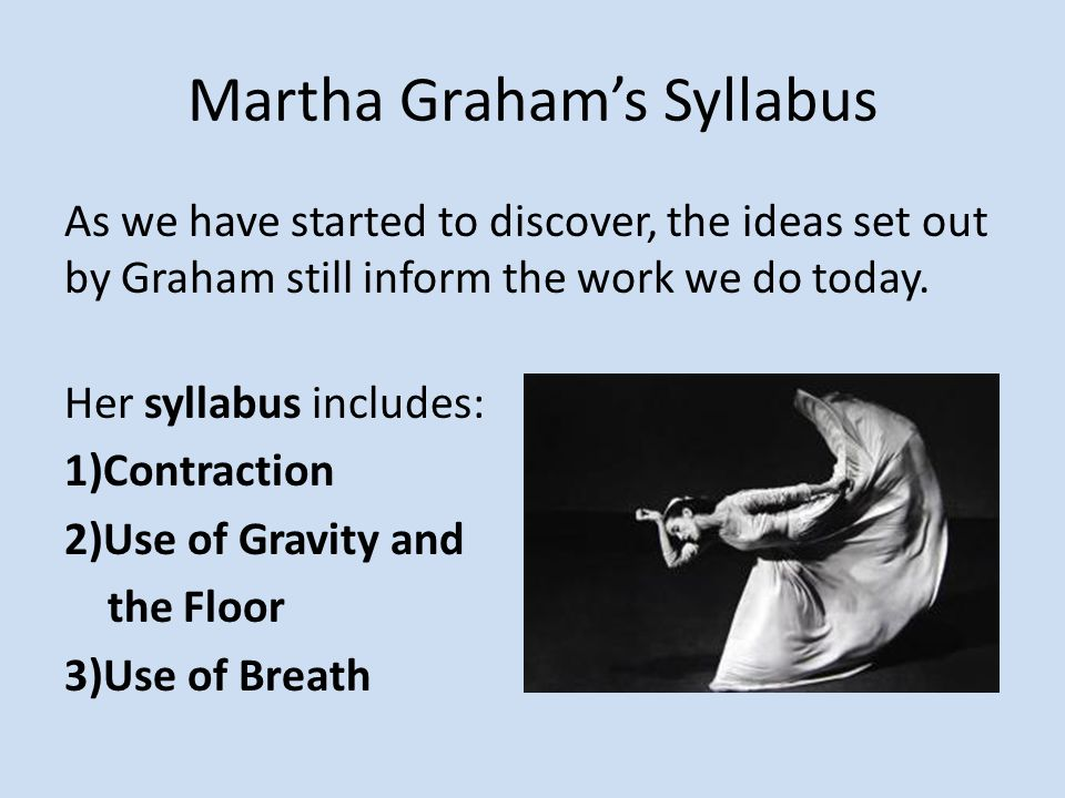 Martha Graham's Syllabus