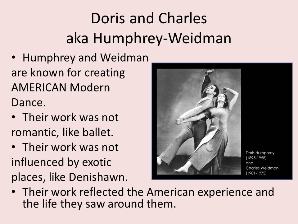 Doris and Charles aka Humphrey-Weidman