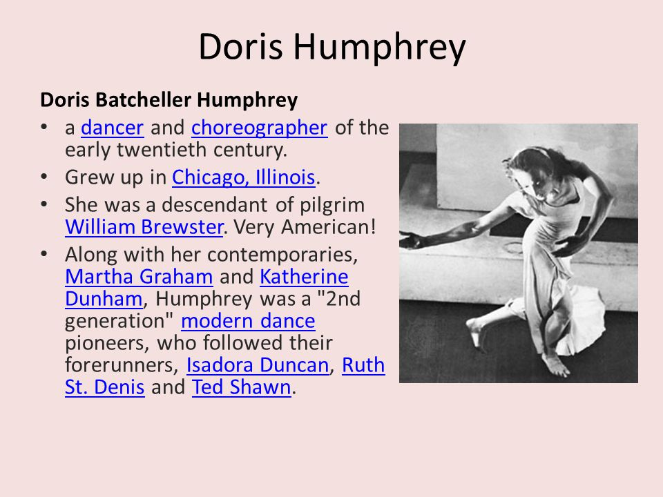 Doris Humphrey Doris Batcheller Humphrey