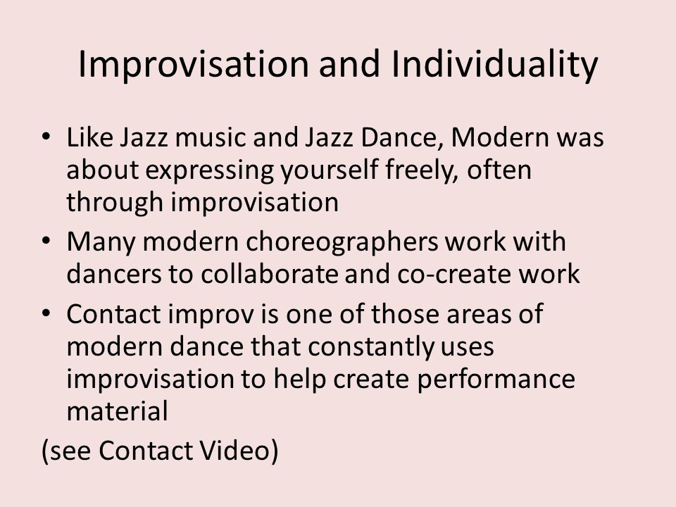 Improvisation and Individuality