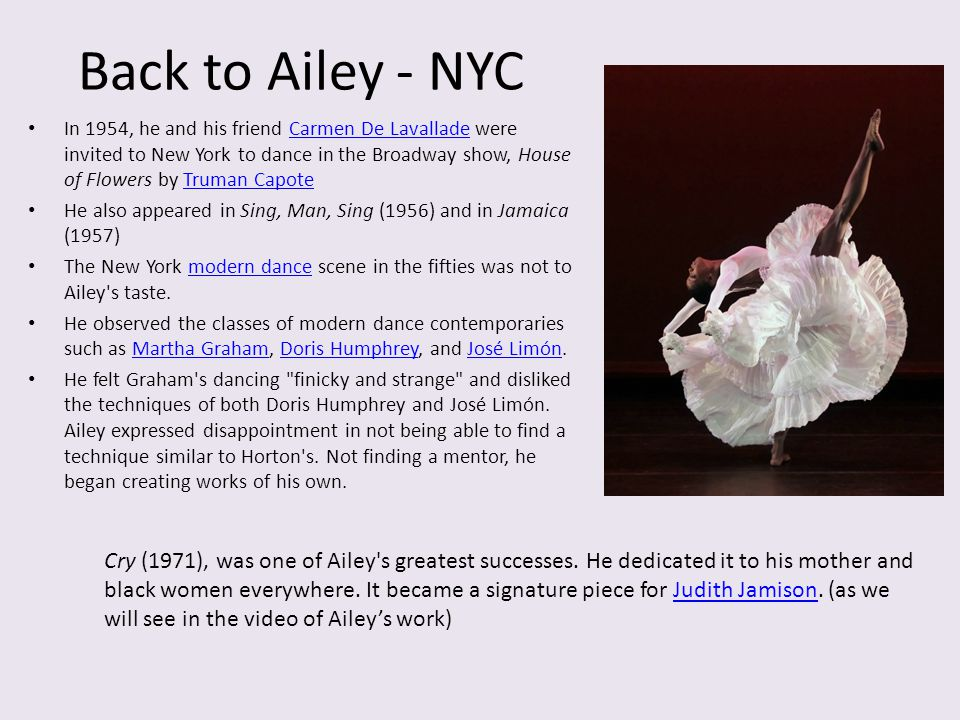 Back to Ailey - NYC