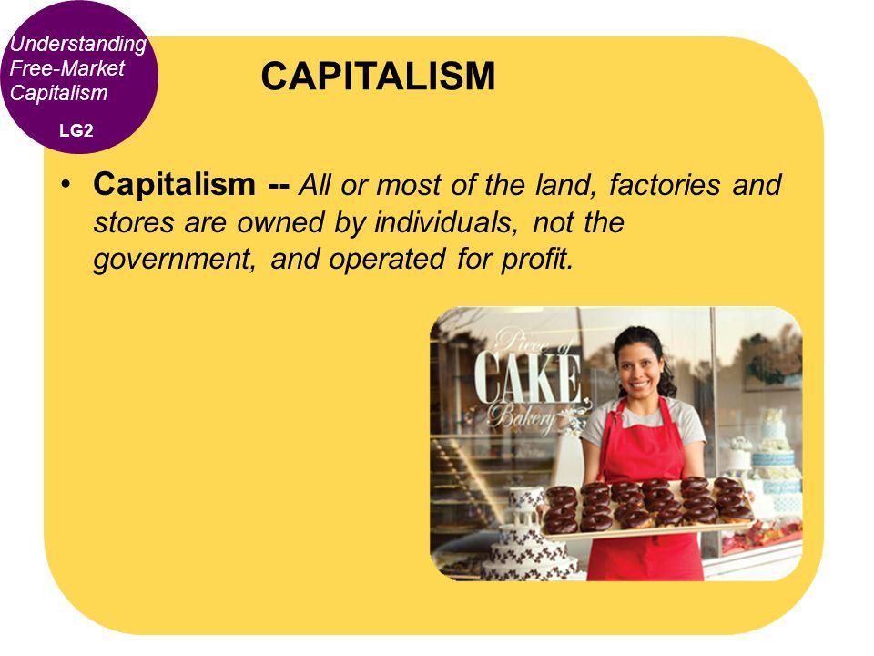 CAPITALISM Understanding Free-Market Capitalism. LG2.