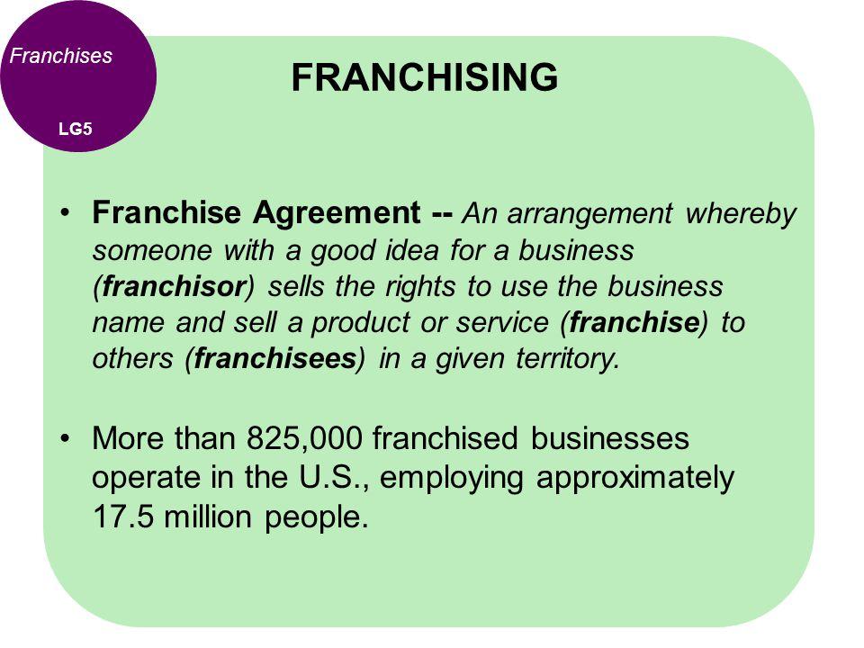 FRANCHISING Franchises. LG5.
