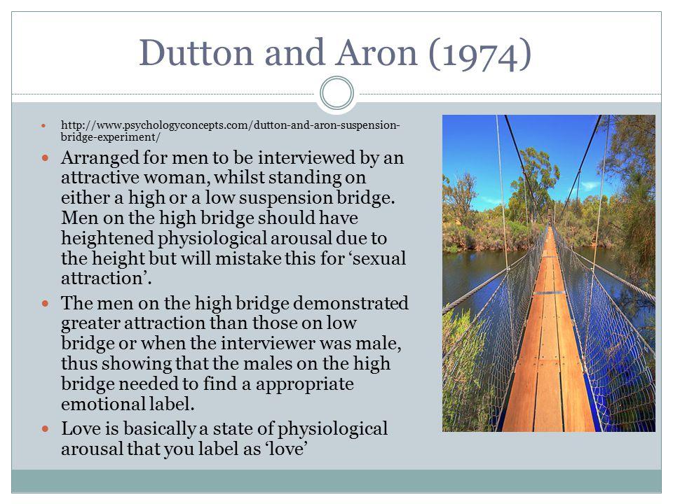Dutton and Aron (1974) http://www.psychologyconcepts.com/dutton-and-aron-suspension-bridge-experiment/