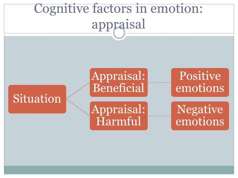 Cognitive factors in emotion: appraisal