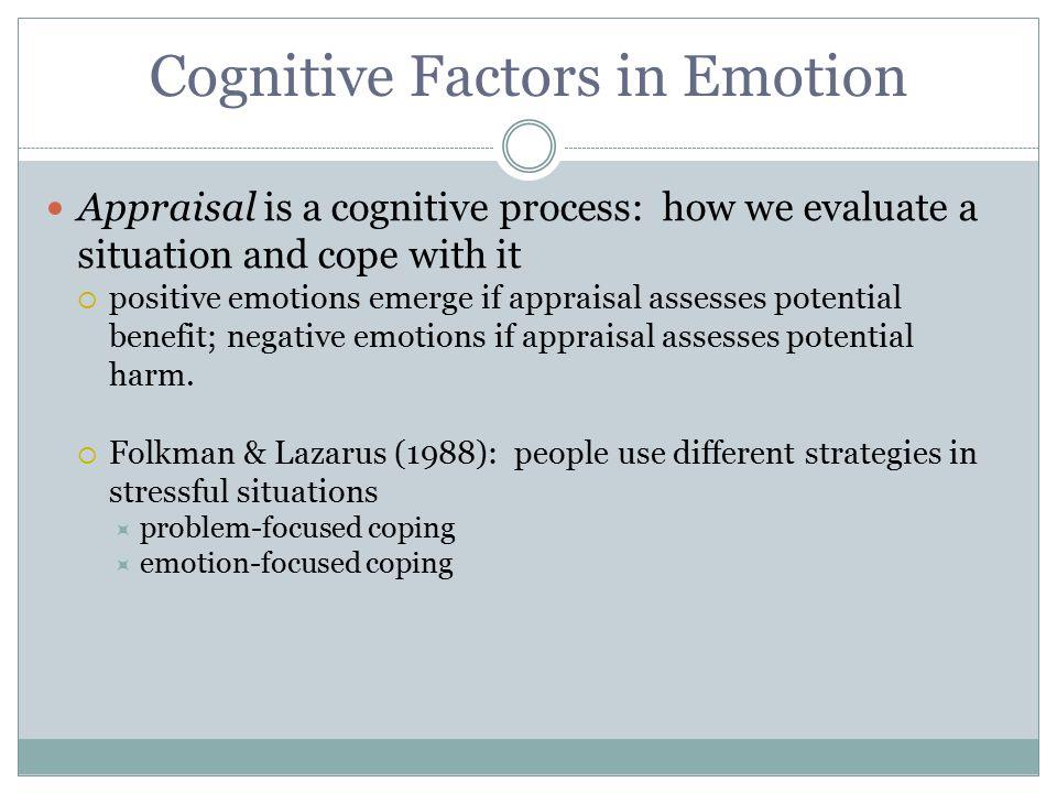 Cognitive Factors in Emotion