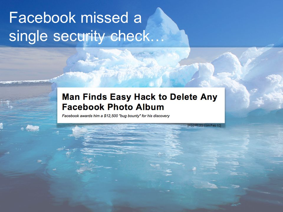Facebook missed a single security check…