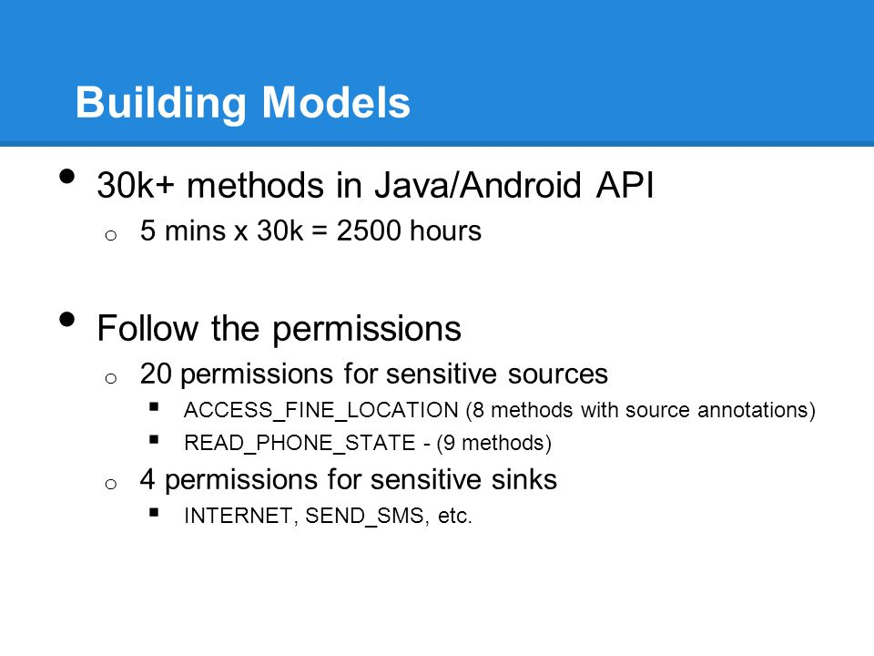 Building Models 30k+ methods in Java/Android API