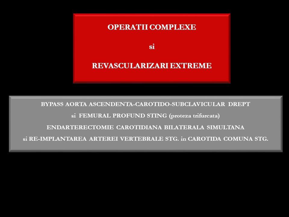 OPERATII COMPLEXE si REVASCULARIZARI EXTREME