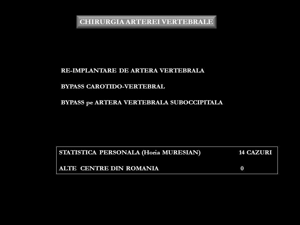 CHIRURGIA ARTEREI VERTEBRALE