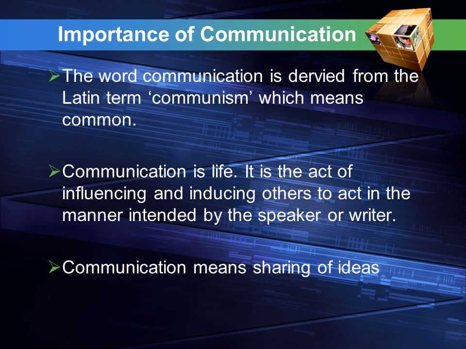 Importance of Communication