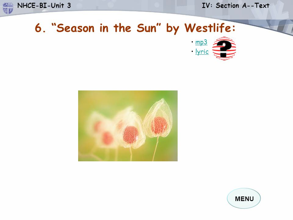 6. Season in the Sun by Westlife: