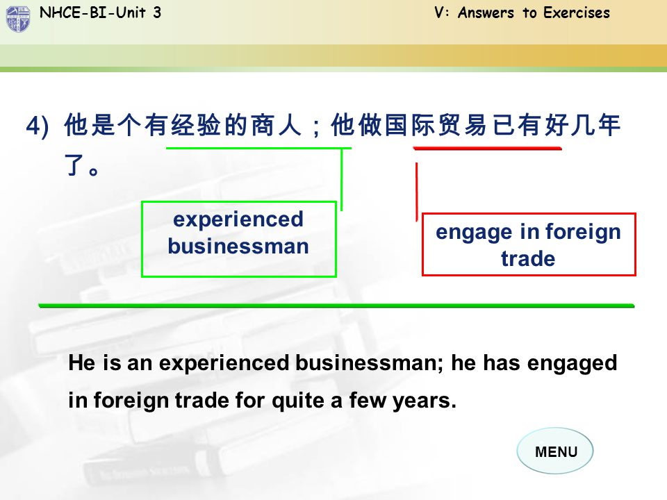 experienced businessman engage in foreign trade
