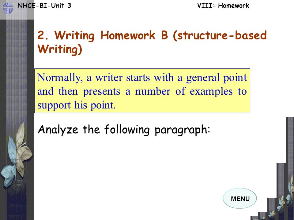 2. Writing Homework B (structure-based Writing)