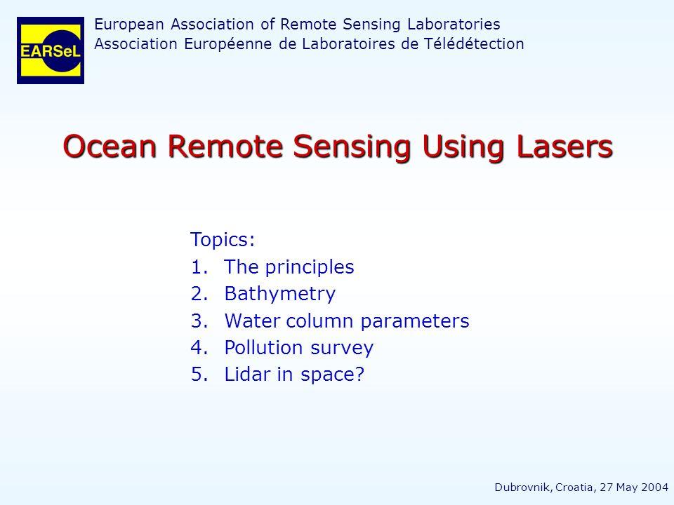Ocean Remote Sensing Using Lasers