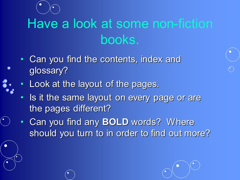 Have a look at some non-fiction books.